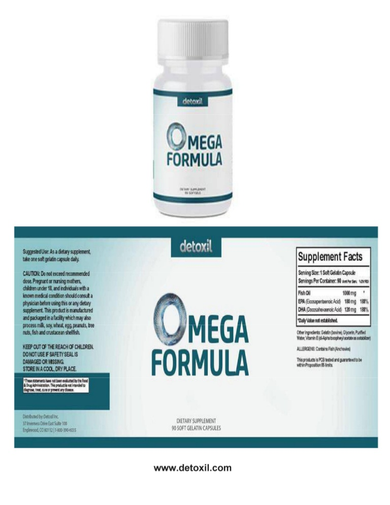 Ingredients of the Detoxil Omega Formula